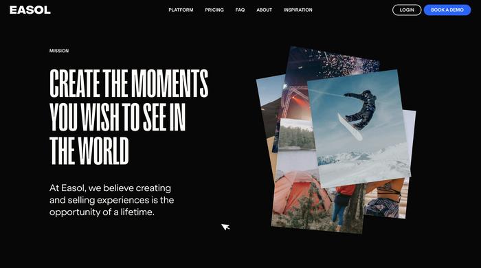 Easol website 2