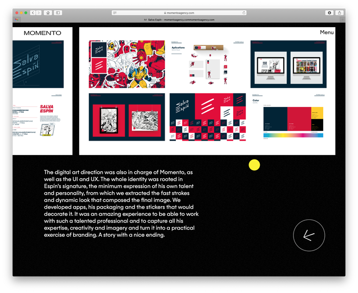 Momento Agency website 4