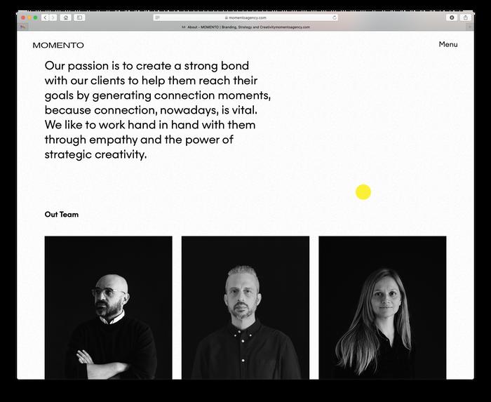 Momento Agency website 5