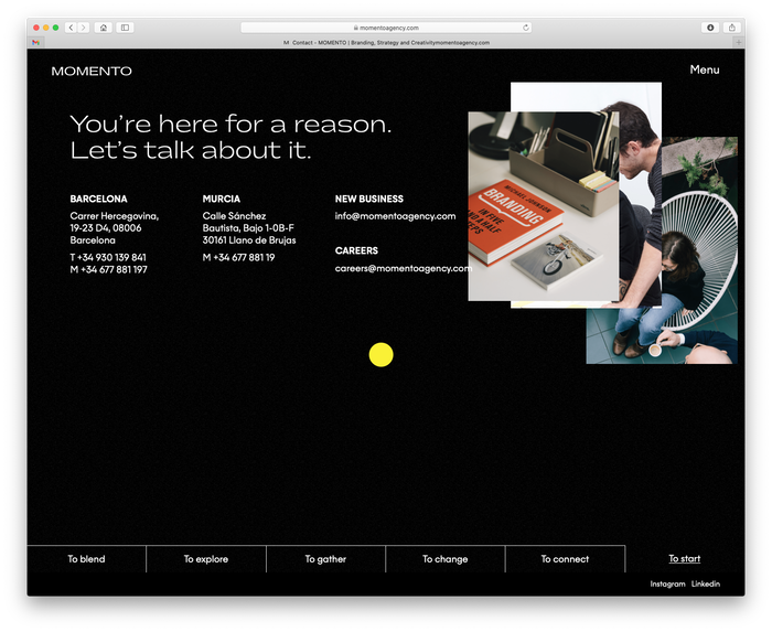 Momento Agency website 8