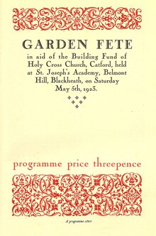 Program covers by the Pelican Press (1923)