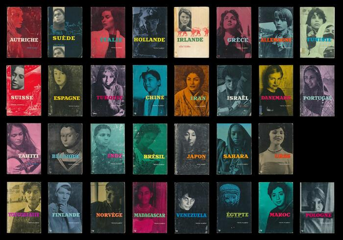 A complete run of all 31 volumes with contributions from Chris Marker is available from Light Industry.    In 2006, Marker and Jason Simon made a poster depicting the covers of all Petite Planète guides issued between 1954 and 1964. While the limited edition by Light Industry is sold out, unsigned copies may still be available through Callicoon Fine Arts.