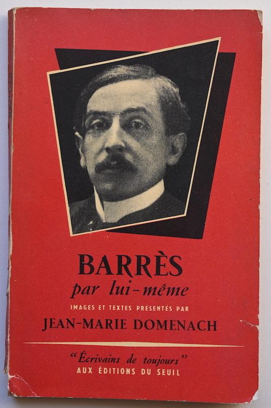 Jean-Marie Domenach: Barrès par lui-même, n° 25, 1954.
