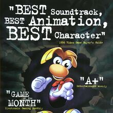 <cite>Rayman</cite> video game print ad (1996)