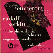 Rudolf Serkin with the Philadelphia Orchestra – <cite>Beethoven: 'Emperor'</cite> album art