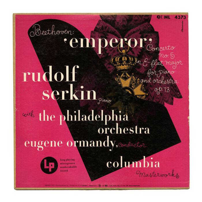 Rudolf Serkin with the Philadelphia Orchestra – Beethoven: 'Emperor' album art