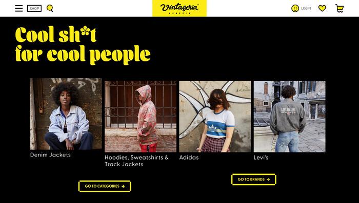 Vintageria Venezia website 3