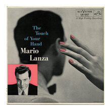Mario Lanza – <cite>The Touch of Your Hand </cite>album art