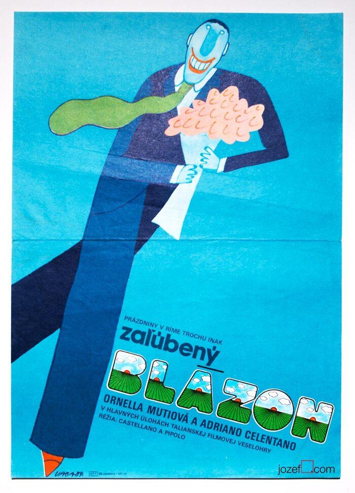 Slovak poster titled Zaľúbený blázon.
