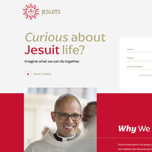 Be a Jesuit website