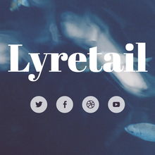 WordPress Lyretail theme header