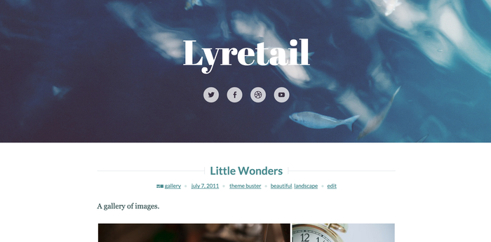 WordPress Lyretail theme header 1