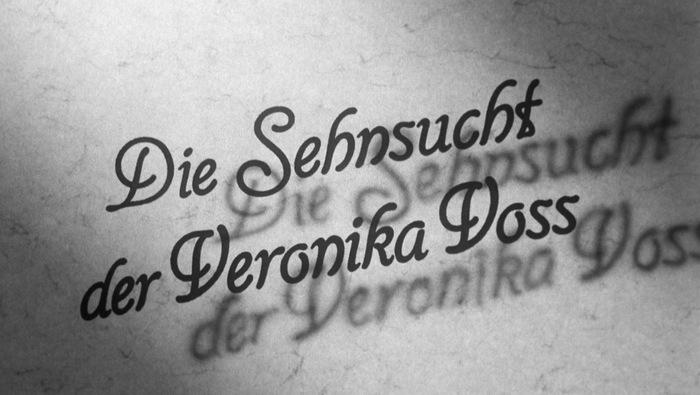 Die Sehnsucht der Veronika Voss (1982) title sequence 2