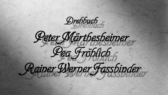 Die Sehnsucht der Veronika Voss (1982) title sequence 4