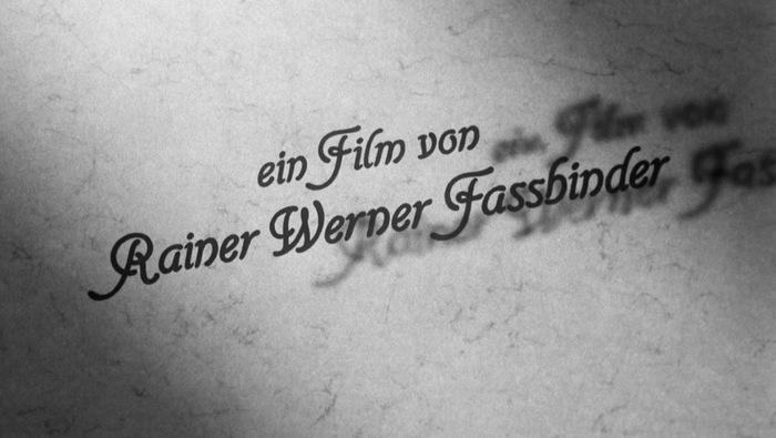 Die Sehnsucht der Veronika Voss (1982) title sequence 5
