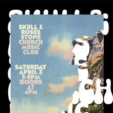 Skull & Roses at Stone Church Music Club gig poster