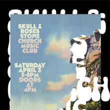 Skull & Roses at Stone Church Music Club gig poster