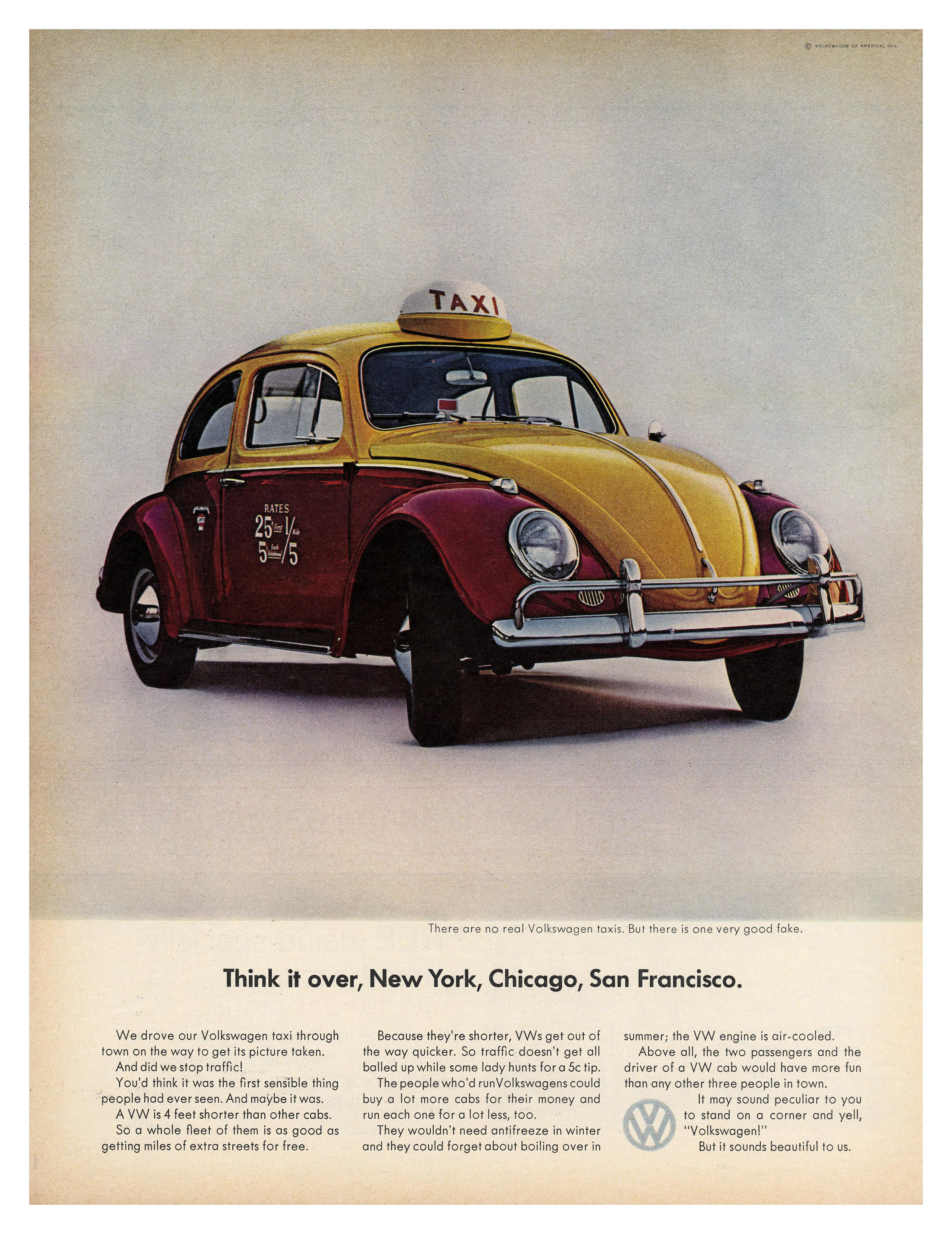 Vintage 1964 Volkswagen Automobile Print Ad