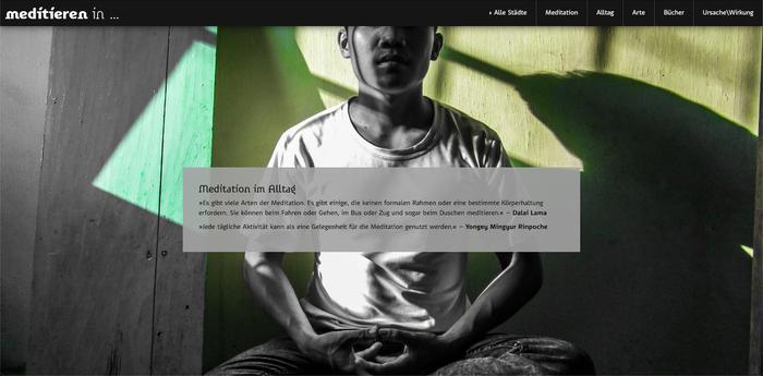 Meditieren in … website (2020) 2