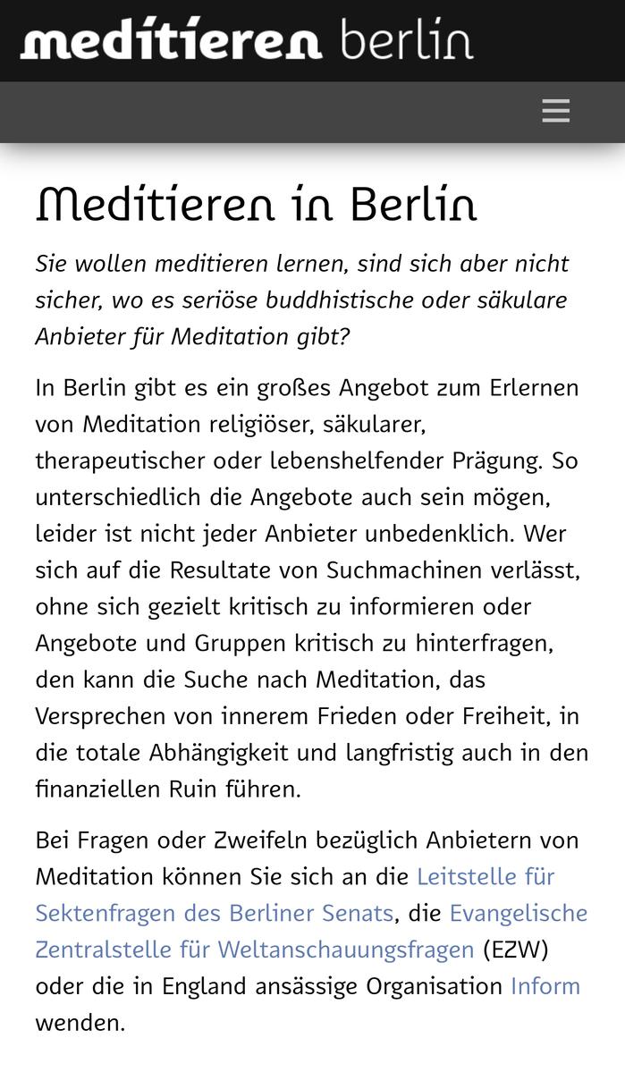 Meditieren in … website (2020) 5