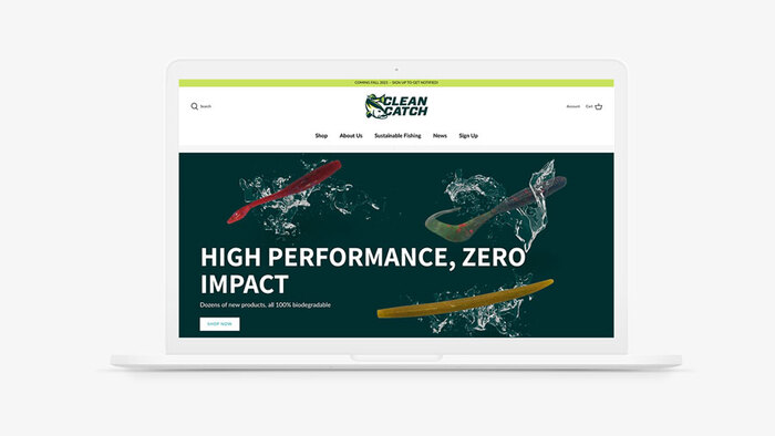 Clean Catch logo and website 3