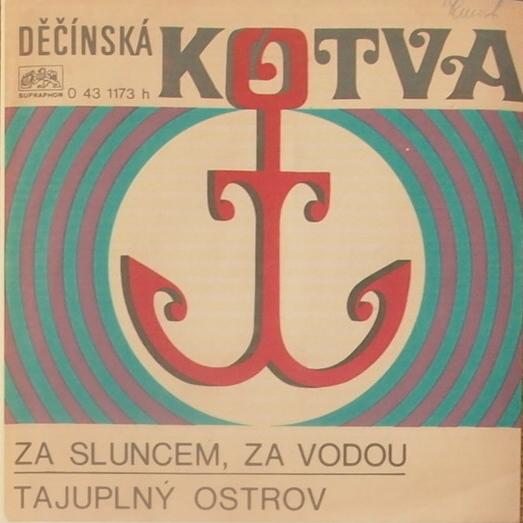 """""""Za sluncem, za vodou"""" / """"Tajuplný ostrov"""" single sleeve (front)."""