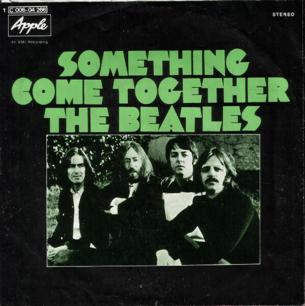 """The Beatles – """"Something"""" / """"Come Together"""" German single cover"""