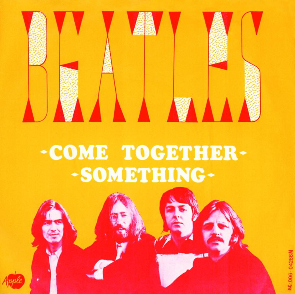 """The Beatles – """"Come Together"""" / """"Something"""" Dutch single cover - Fonts In  Use"""