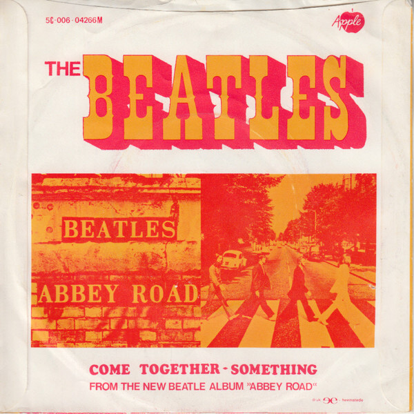 "The Beatles – ""Come Together"" / ""Something"" Dutch single cover 2"