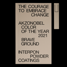 "Akzo Nobel <cite>Color of the Year 2021</cite> ""Brave Ground"""
