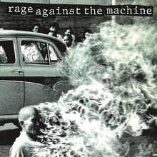 Rage Against the Machine – <cite>Rage Against the Machine</cite> (1992) album art