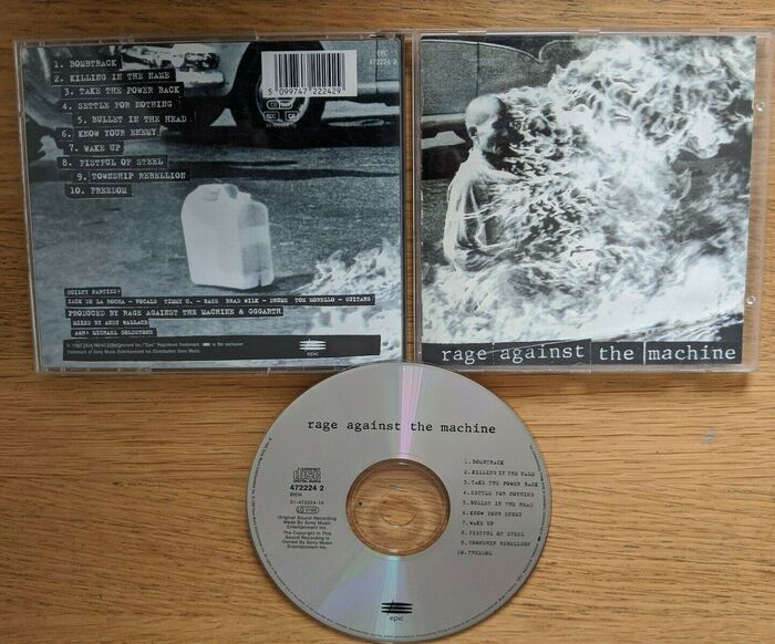 The front cover, back cover, and CD of the original 1992 release of the album.
