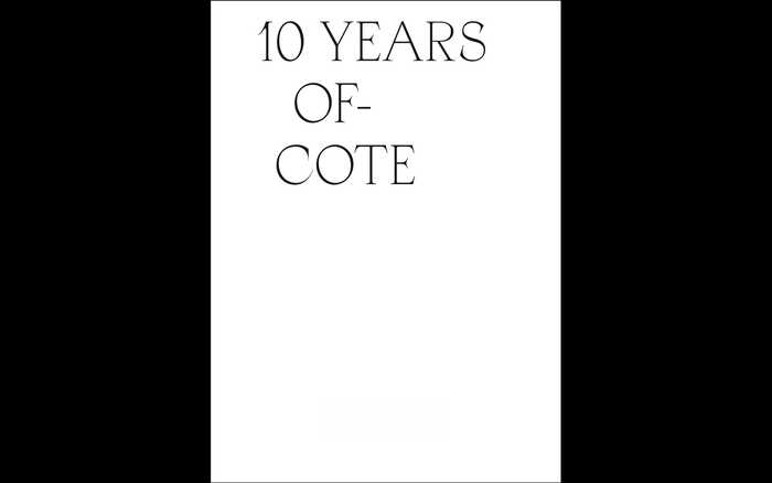 10 Years of COTE catalogue 1
