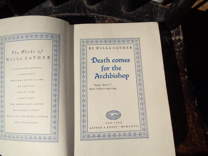 Death Comes for the Archbishop by Willa Cather (Alfred A. Knopf, 1927) 4