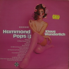 Klaus Wunderlich – <cite>Hammond Pops 8</cite> album art