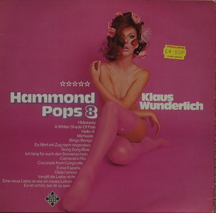 Hammond Pops 8 album sleeve (front).