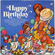 Jack Arthur with the Diplomat Orchestra and Chorus – <cite>Happy Birthday</cite> album art