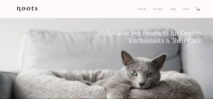Noots Pets website 1