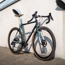 Karama bicycle frame lettering