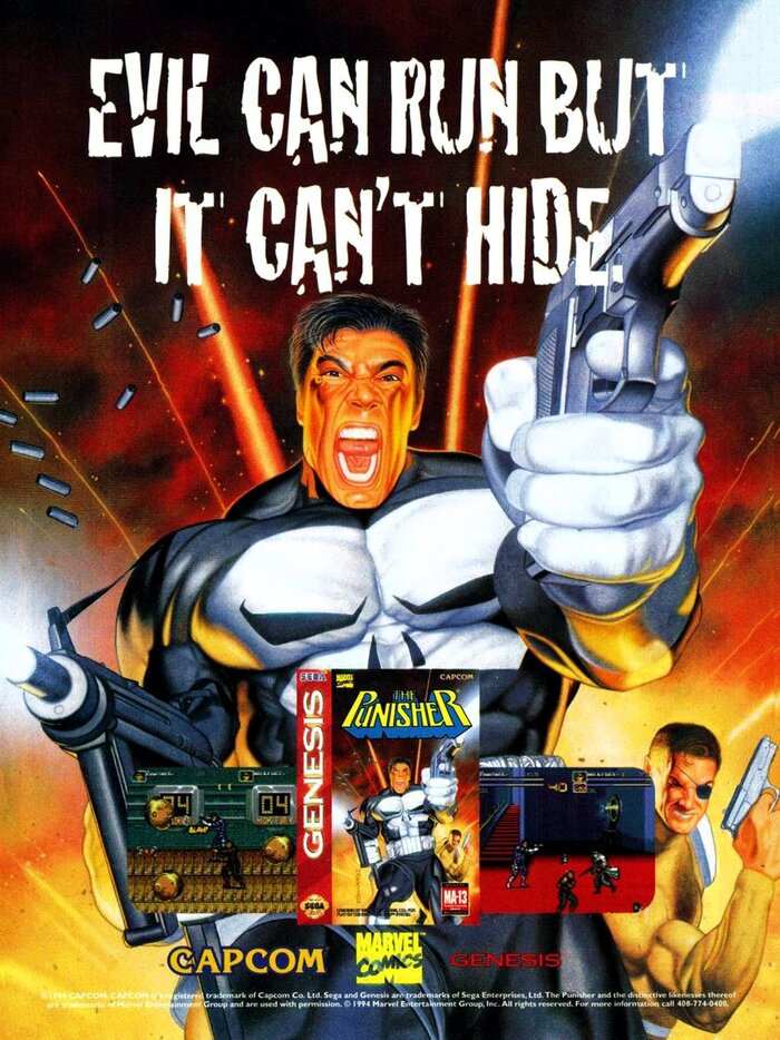 The Punisher video game ad (1994)