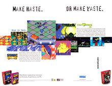 """Make Haste. Or Make Waste."" <cite>Sonic 3D Blast</cite> video game ad (1996)"