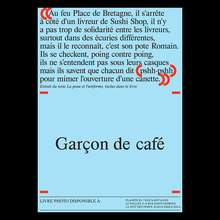 <cite>Garçon de Café</cite> book launch posters