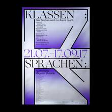 <cite>Klassensprachen</cite> exhibition poster and magazine