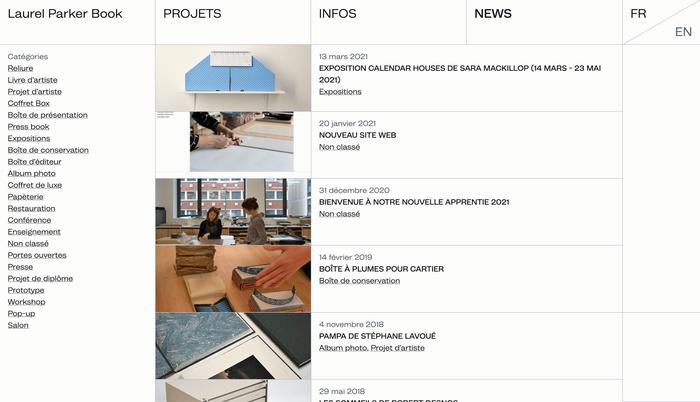 News page (blog)