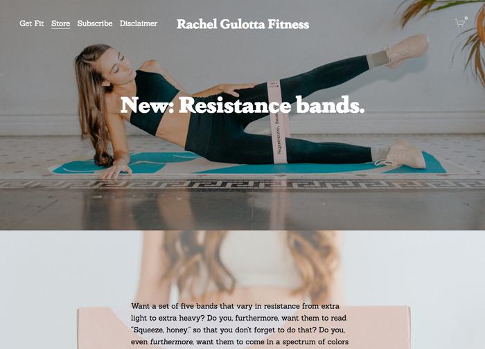 Rachel Gulotta Fitness website 4