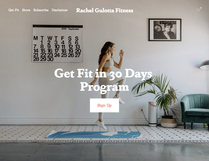 Rachel Gulotta Fitness website 1