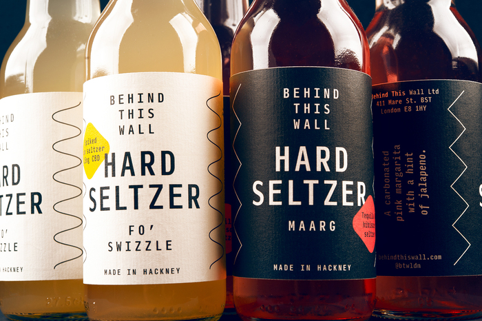 Behind This Wall hard seltzer labels 1