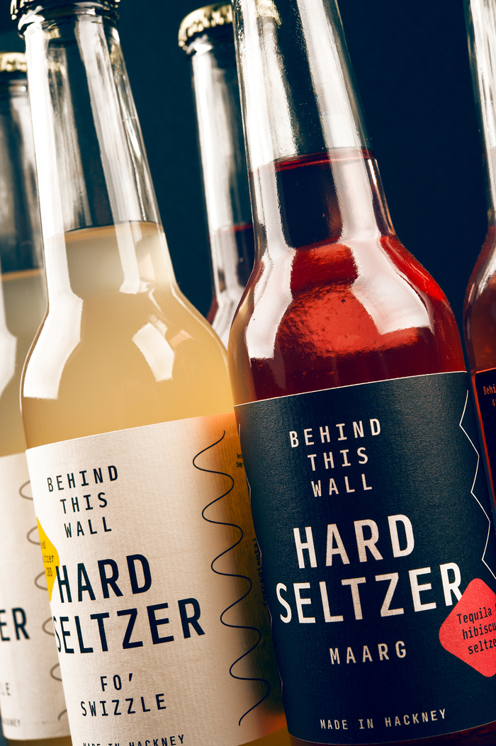 Behind This Wall hard seltzer labels 3