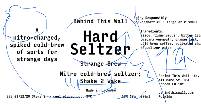 Behind This Wall hard seltzer labels 4