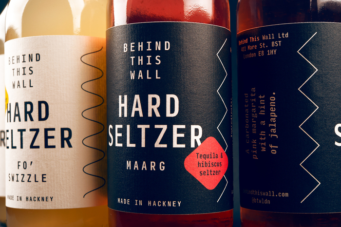 Behind This Wall hard seltzer labels 5